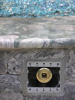 "1/4"" Azurlite Reflective Base Glass-Fireplace-Fire Pit ..."